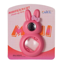 Load image into Gallery viewer, CAIUL Compatible Bunny Mini 9 Close Up Selfie Lens with Self-Portrait Mirror for Fujifilm Mini 9 8 8+ 7s, Polaroid 300 Camera (Flamingo Pink)