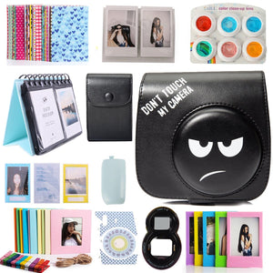 CAIUL Compatible Mini 8 Camera Case Bundle with Album, Filters and Accessories for Fujifilm Mini 9 8 8+ (Don't Touch My Camera, 12 Items)