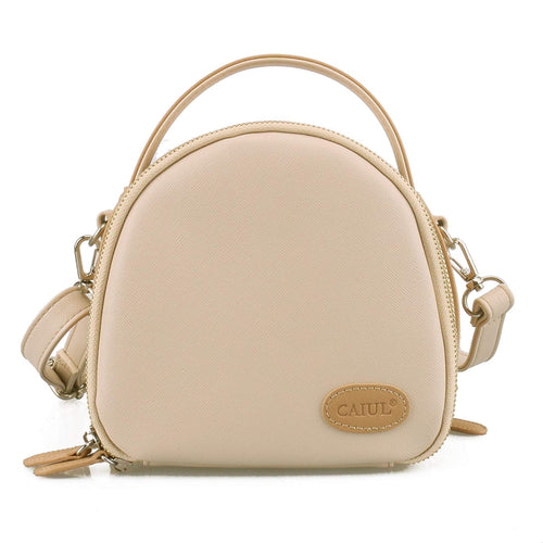 CAIUL Compatible Mini First Generation Zipper Universal Camera Case for Fujifilm Mini 8 70 7s 25 50s 90 Camera (Beige)
