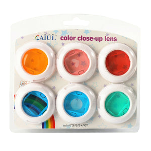 CAIUL Compatible Mini Color Close Up Lens Filter Set for Fujifilm Mini 8 8+ 9 7s (6 pcs)
