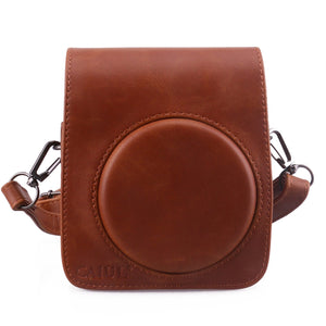 CAIUL Compatible Mini 70 Case Bag With Soft PU Leather Material for Fujifilm Mini 70 Camera - Brown