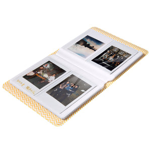 CAIUL Compatible 64 Pockets Mini Book Album for Fujifilm Mini 8 8+ 9 70 7s 90 25 26 50s Films (Red Lips)