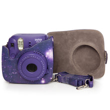 Load image into Gallery viewer, CAIUL Compatible Mini 8 Camera Case Bag With Soft PU Leather Material for Fujifilm Mini 8 8+ 9 Film Camera (2nd Gen Galaxy)