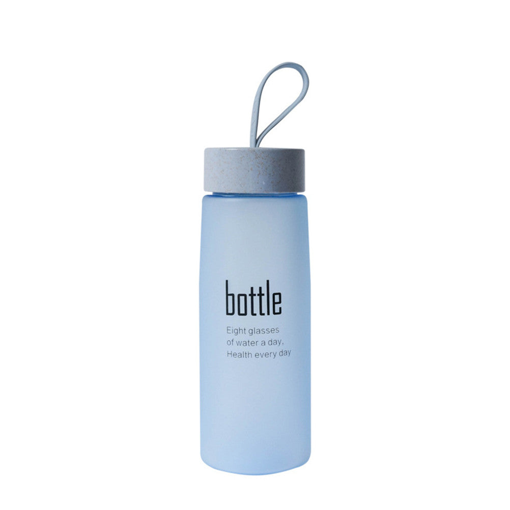 520 Ml Frosted Water Drinking Bottle Couples Creative Portable Water Bottle
