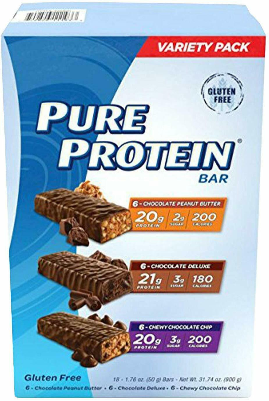 Pure Protein Bars, High Protein, Nutritious Snacks to Support, 1.76oz,18 Pack