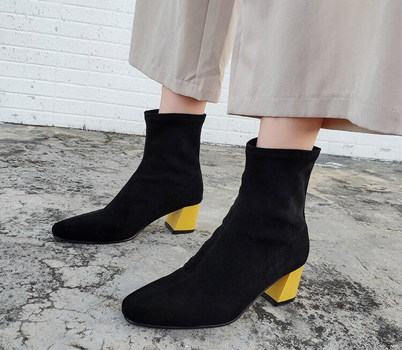 Fashion Women Ankle Sock Boots