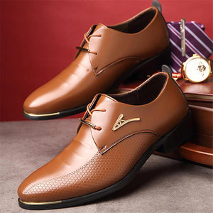Classic Men Pointed Toe Dress Office Shoes