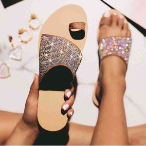 New Fashion Women's Summer Slippers Soft Bling Flip Flops
