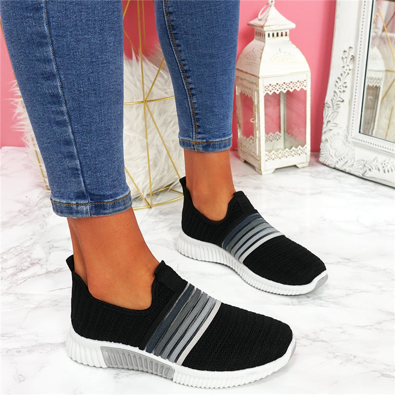 Women's New Breathable Colorful Mesh Flat Walking Casual Shoes Sneakers