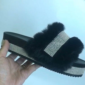 Women's Casual Comfortable Plush Slippers