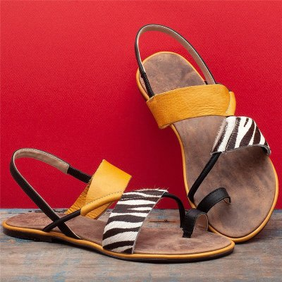 2020 New Women's Flip Thong Patchwork Beach Sandals
