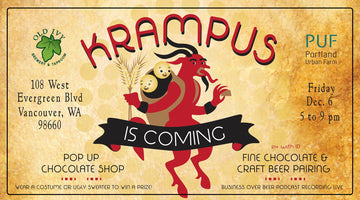 OLD IVY BREWERY TO HOST KRAMPUS IS COMING: CHOCOLATE AND BEER PAIRING