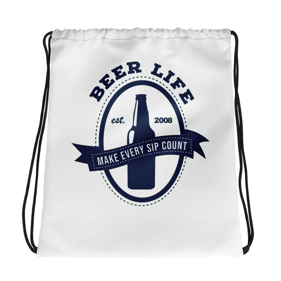 Make Eevry Sip Count Drawstring bag