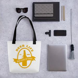 Make Every Sip Count Tote bag