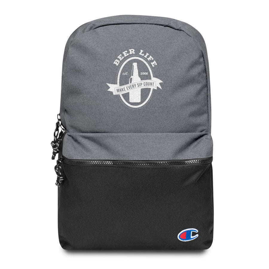 Make Every Sip Count Embroidered Champion Backpack