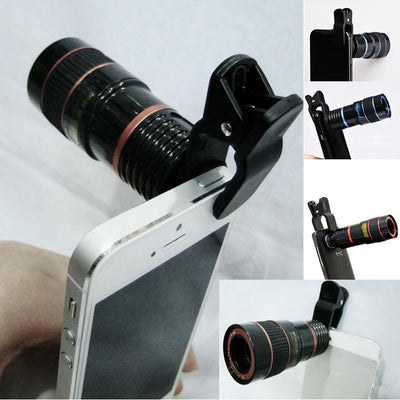 Telephoto PRO Clear Image Lens Zooms 8 times closer! For all Smart Phones & Tablets with Camera - VistaShops - 3