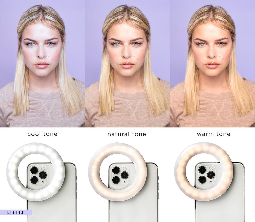 Color tone levels of LITTIL Selfie One Ring Light.