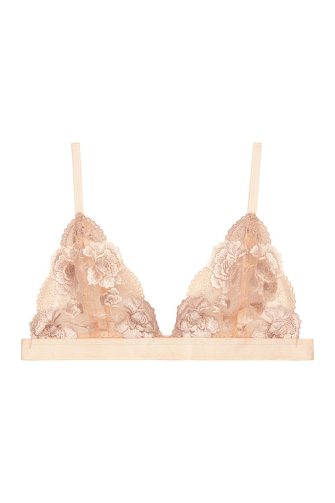 Grace Blush Embroidered Triangle Bra