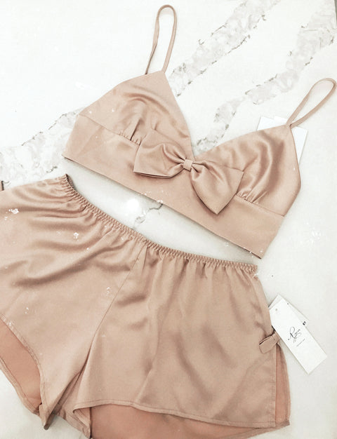 Shimmer Bralette and Short Set
