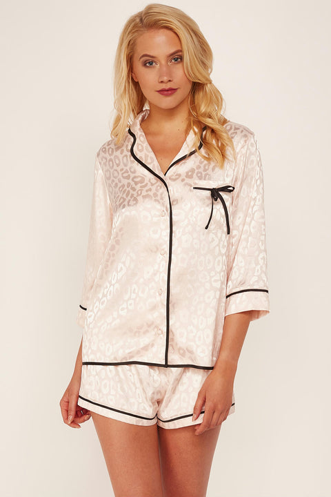 Tracy Pink Leopard PJ Set