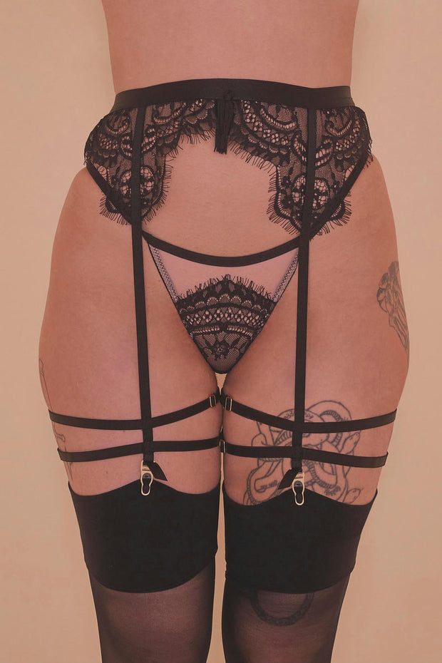 Samantha Corded Lace Suspender