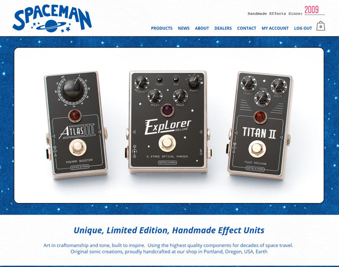 SpacemanEffects.com 2.0 Has Arrived