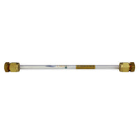 "6mm x 7"" Glass Tube - Brass Compression Caps"