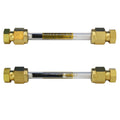 "1/4"" x 3.5"" Glass Tube - Brass Compression Caps"
