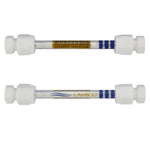 "1/4"" x 3.5"" Glass Tube - PTFE Compression Caps"
