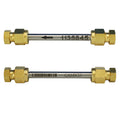 "1/4"" x 3.5"" Stainless Steel Tube - Brass Compression Caps"
