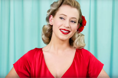 Pin Curl Basics for a 1940s or 1950s Hairstyle