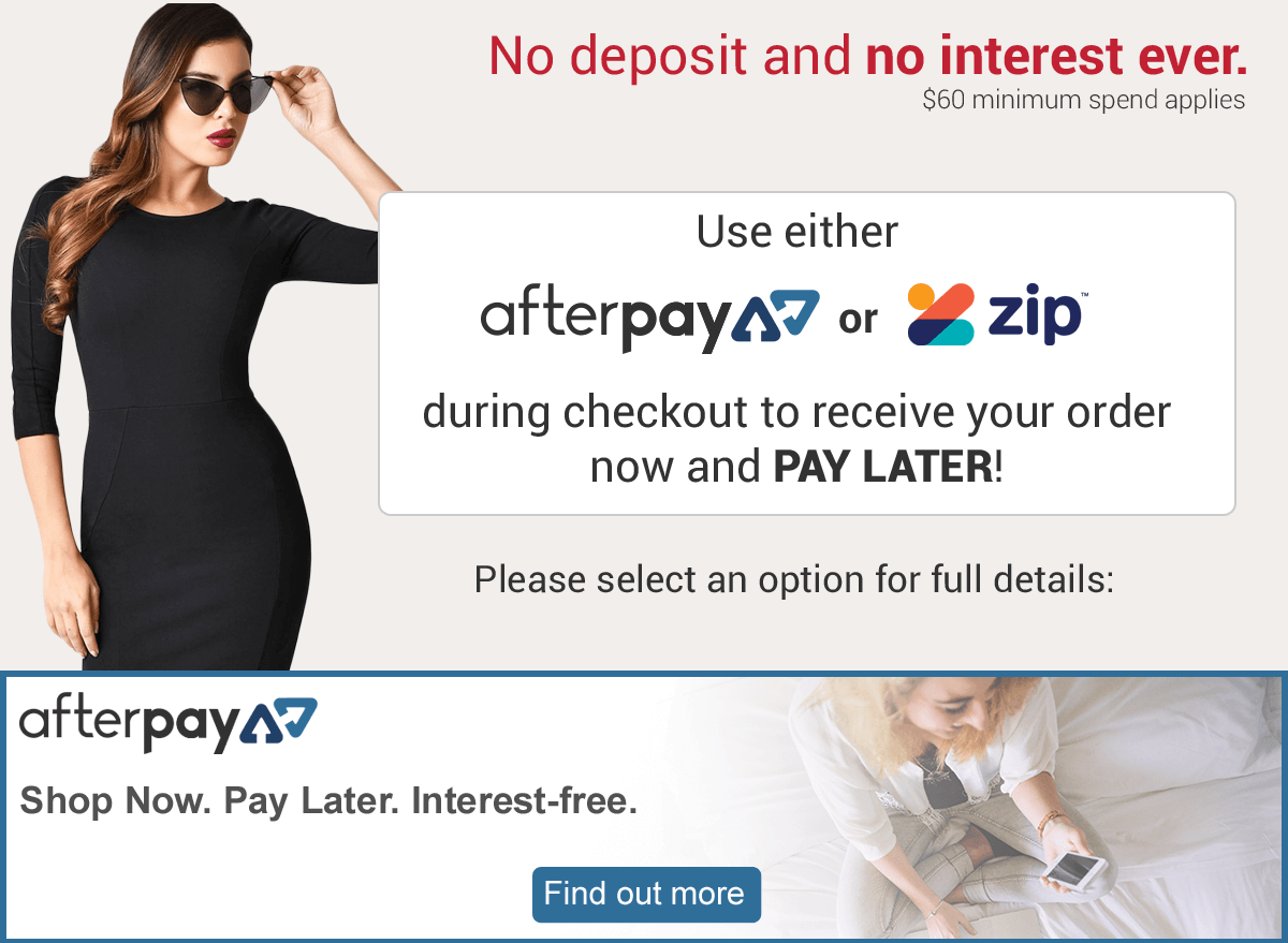 Buy now and pay later with afterpay and zip