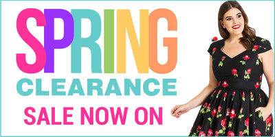 Spring clearance sale banner