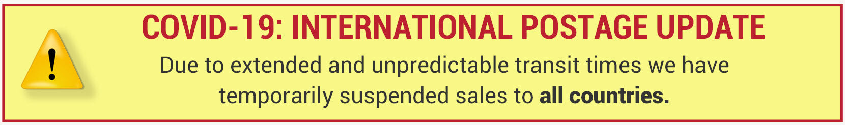international postage: all countries suspended
