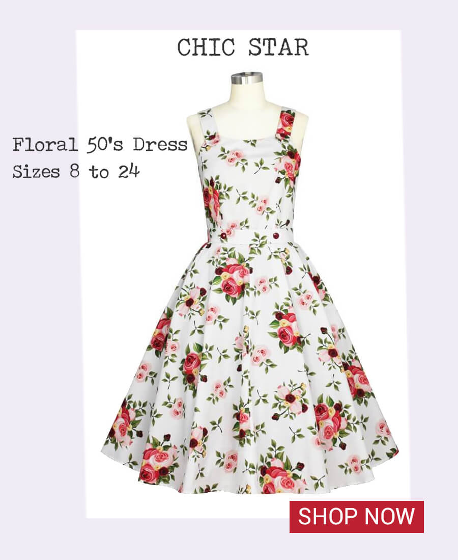Image of Chic Star 1950's Floral Dress