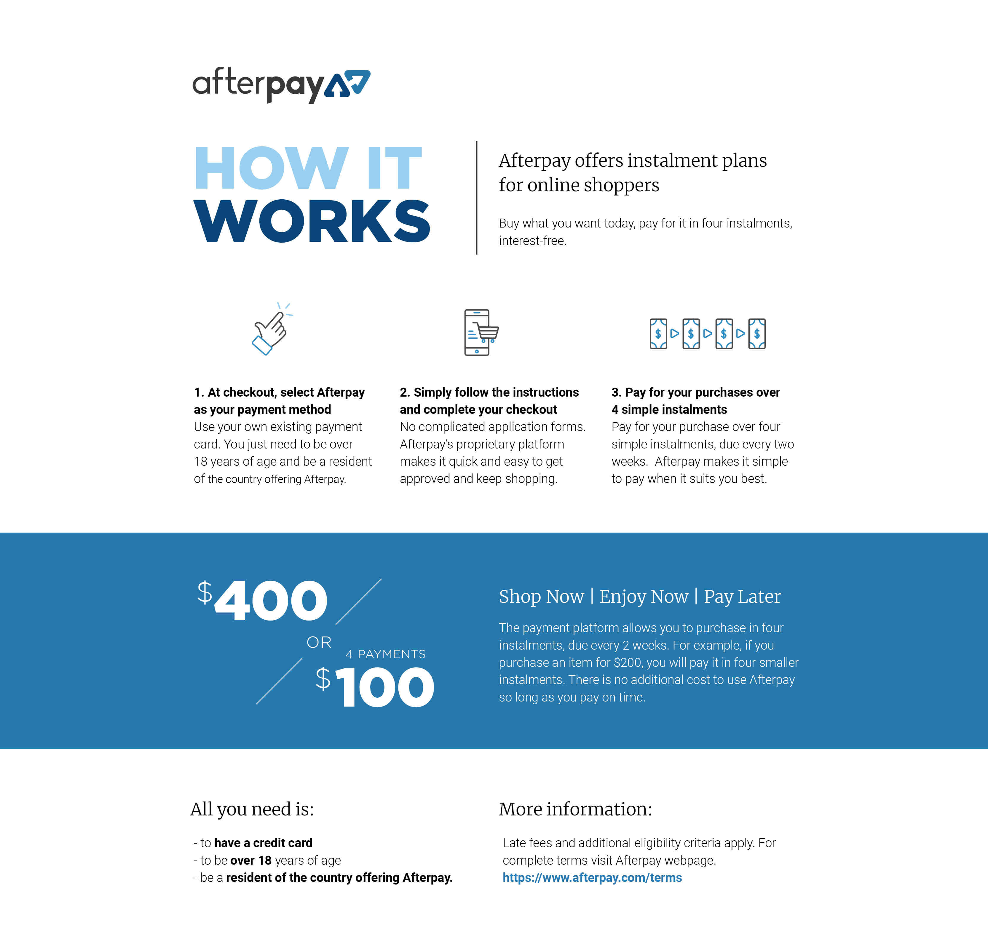 AfterPay Product Graphic