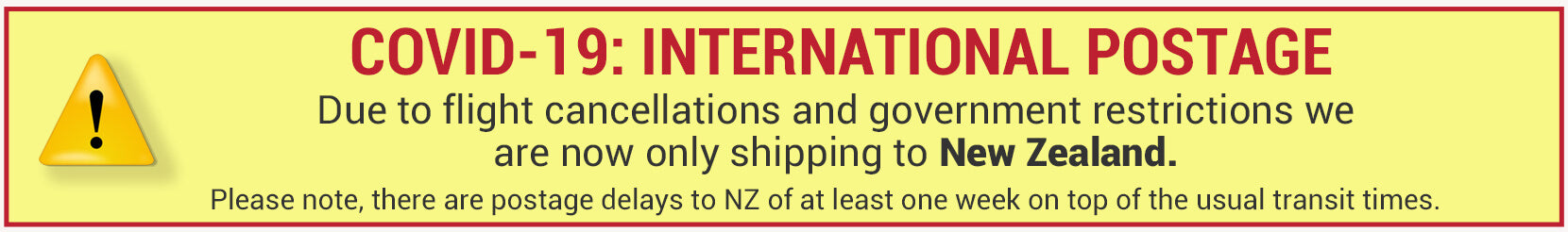 International postage suspended excluding New Zealand