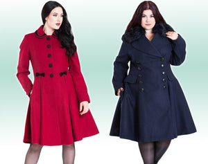 Image of models wearing warm winter coats
