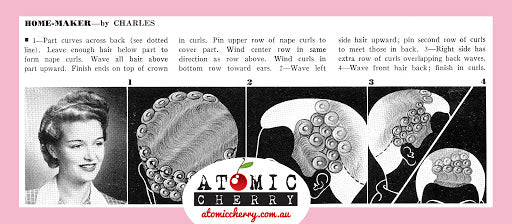 Image of retro pin curl tutorial