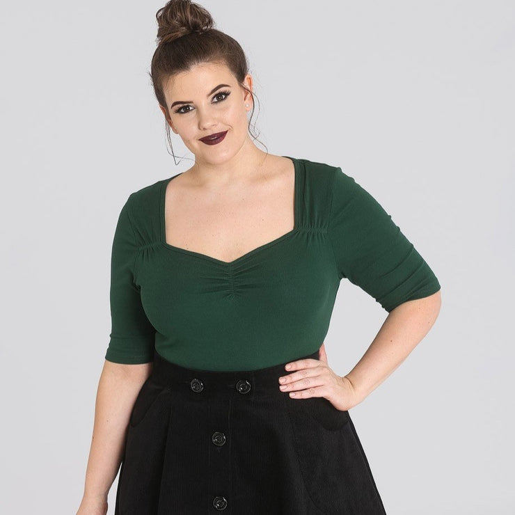[Special Order] Hell Bunny Philippa Top - Green