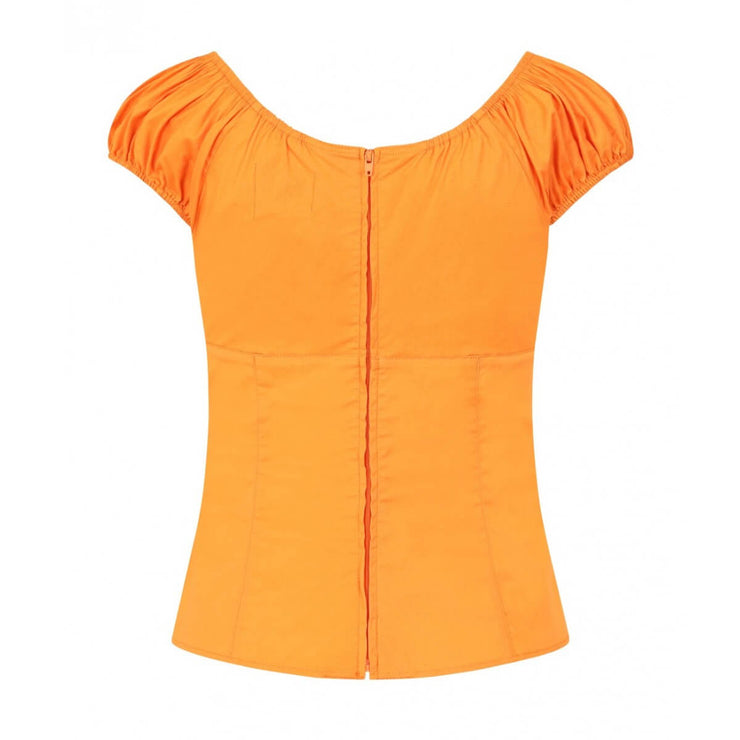 Hell Bunny Melissa Top - Orange (Medium Only)