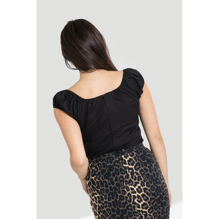Image of Hell Bunny Melissa Top on standard model - back