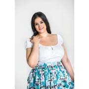 Image of Hell Bunny Melissa Top on plus size model - front