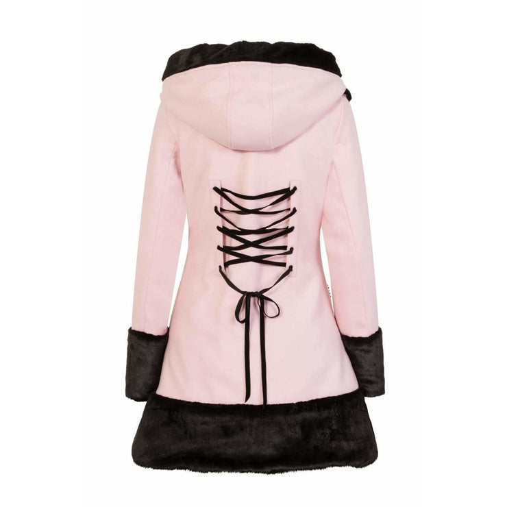 Image of [Special Order] Hell Bunny Sarah Jane Coat - Pink/Black