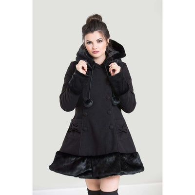 Image of [Special Order] Hell Bunny Sarah Jane Winter Coat - Black