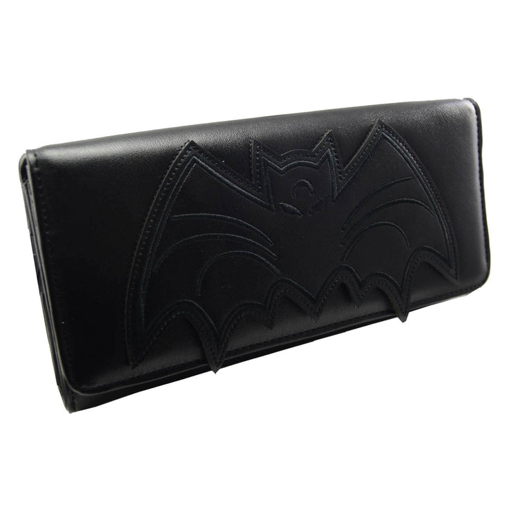 Banned Bat Clutch Wallet - Black side