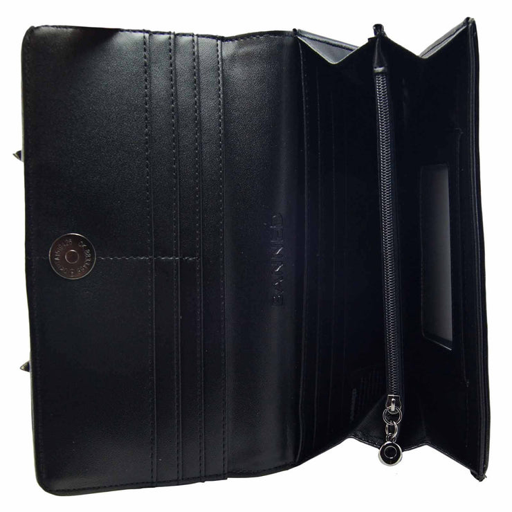 Banned Bat Clutch Wallet - Black inside