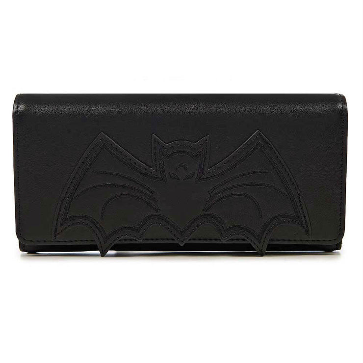 Banned Bat Clutch Wallet - Black front