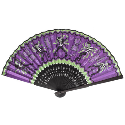 sourpuss Frankie A Go Go folding fan main image