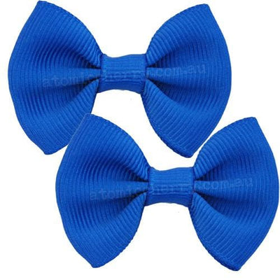 Image of Solid Colour Hair Clips - Royal Blue